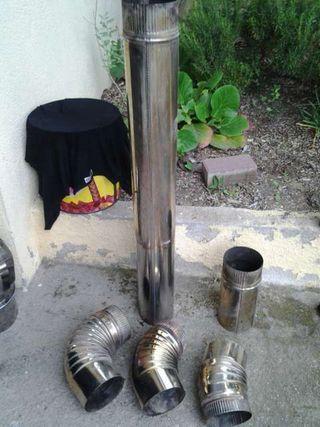 Tobo y codos de estufa o chimenea de acero inoxidable