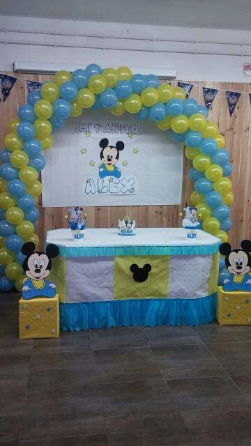Decoracion De Cumpleanos Mickey Mouse De Segunda Mano Por 1 En