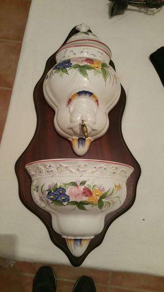 Fuente decorativa ceramica