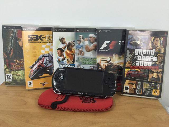 PSP Sony con juegos