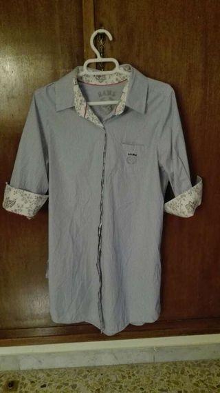 Mujer Camisa Y Blanco Rayas De Azul vvSIq5r