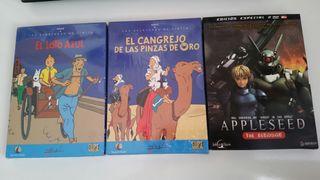 Las aventuras de Tintín y Appleseed the beginning.