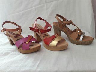 Zapatos fiesta tacón piel