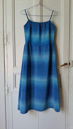 70s Vestido azul