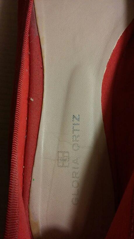 Manoletinas rojas talla 38-39