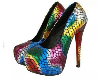 Zapatos tacón drag Queen transformista