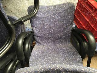 Lote 10 sillas oficina iguales buen estado falta limpiar