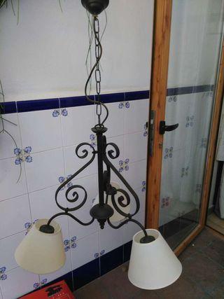 Lámpara techo forja (acepto cambio)