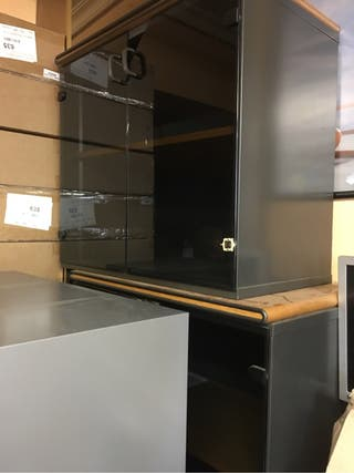 Armario cristal para oficinas 2 unidades
