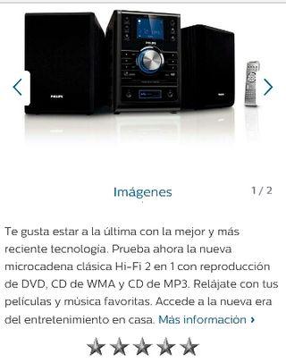 Equipo DVD MP3 Philips 100W + REGALO