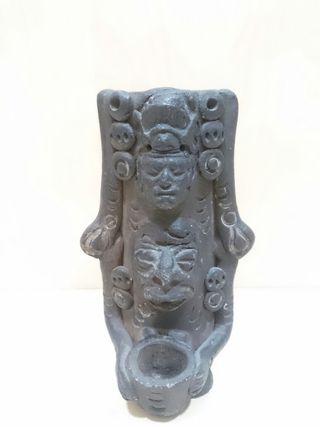 Vintage Vaso de Ceramica Maya Artesanal