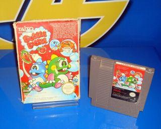 Juego Nintendo clásico bubble bobble Nes