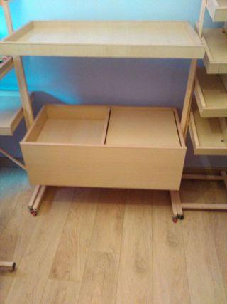Muebles de madera para kiosko,prensa..