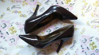 Zapatos tacón marrón chocolate BSK