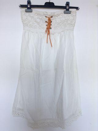 Vestido blanco con forro talla S M