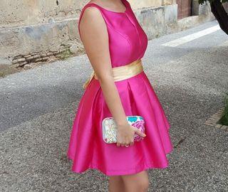 Vestido Velvet Fucsia
