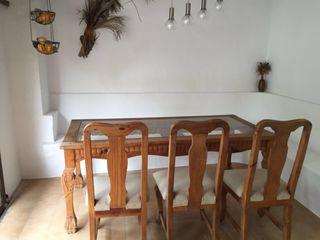 Comedor estilo colonial 8 sillas + mesa