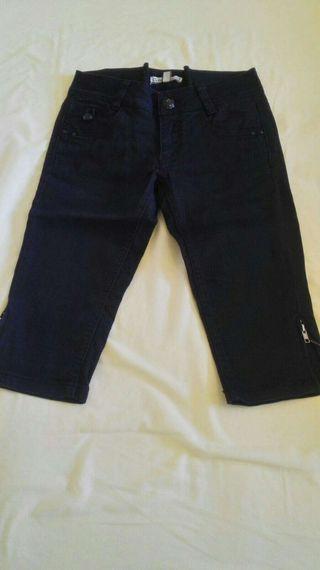 Pantalon Negro Bershka