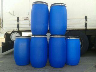 Bidones azules . 120 litros. Con Tapa y cierre