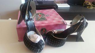 Zapatos pin up negros