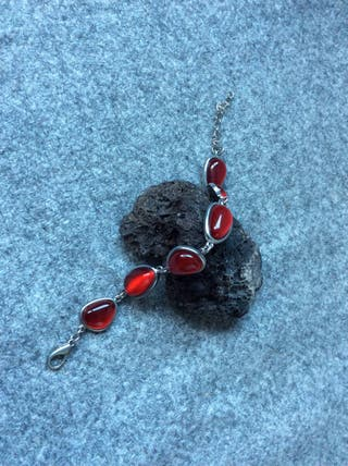 Pulsera Piedras Rojas