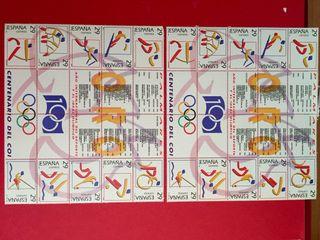 Sellos. Serie especial atletismo centenario del COI