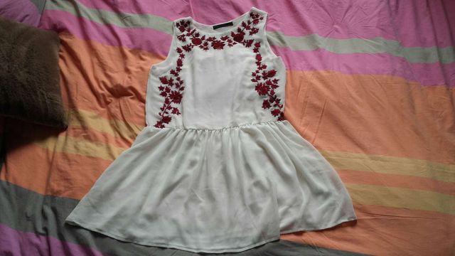 Robe blanc cassé mariage cérémonie Zara Neuve