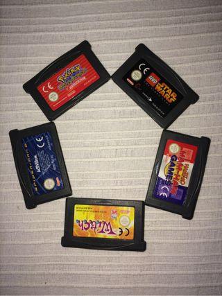 Gameboy advance 5 juegos