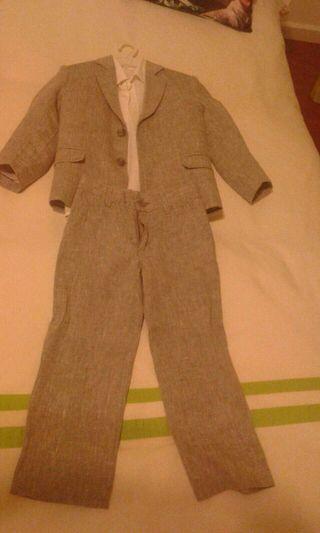 Traje de chaqueta para niño de 4 años