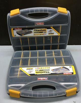 Cajas (2) para organizar tornillos