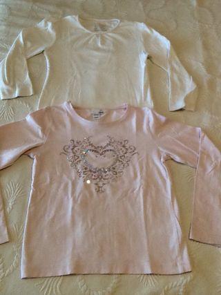 Lote 2 Camisetas Niña Talla 6-7