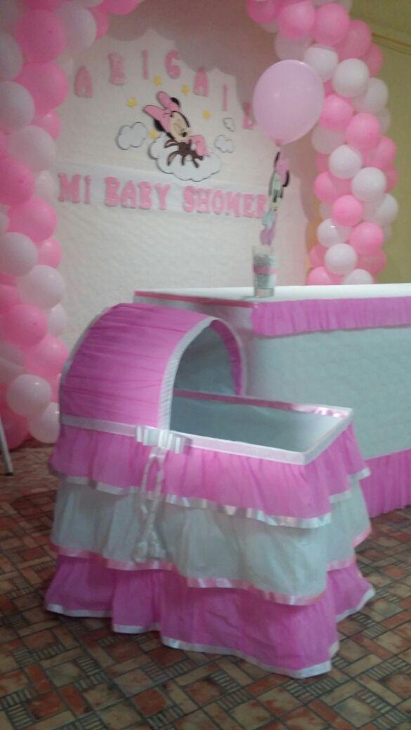 Decoracion De Baby Shower Minnie De Segunda Mano Por 1 En