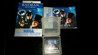 Videojuego Batman returns Game gear con caja funda e instrucciones