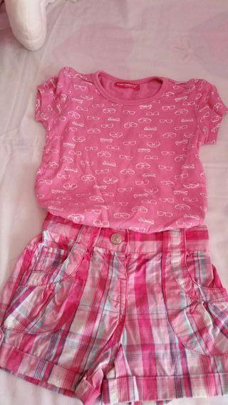 Pantalón corto y camiseta T4-6