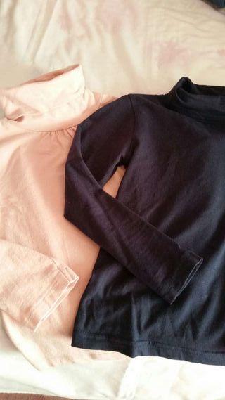 Camisetas cuello cisne algodon