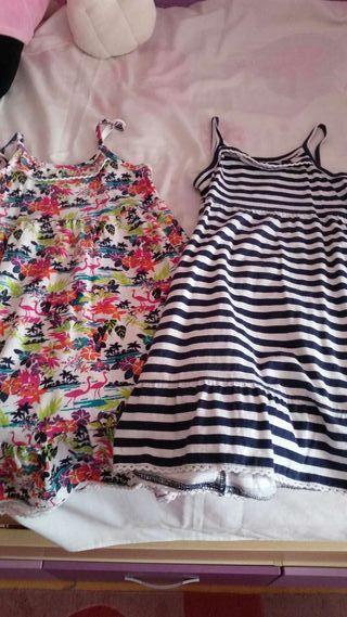 Dos vestidos algodón 5-6