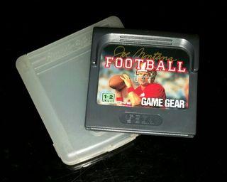 Videojuego Joe Montana Football Game gear con funda