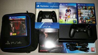 PS4 + 2 Mandos + 3 Juegos + Funda + Caja