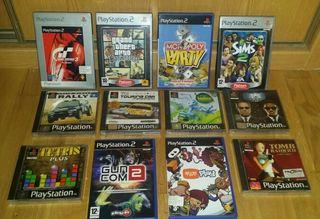 Lote juegos playstation + accesorios + ps2