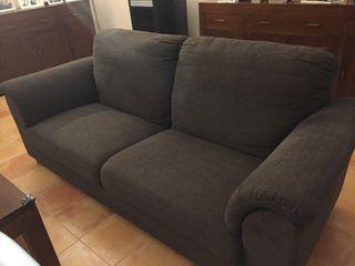 Sofá 3 PLA. TIDAFORDS IKEA HENSTA MARRÓN (Negociable) ( LANZAROTE