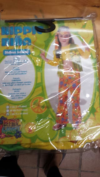 Disfraz hippie niña nuevo