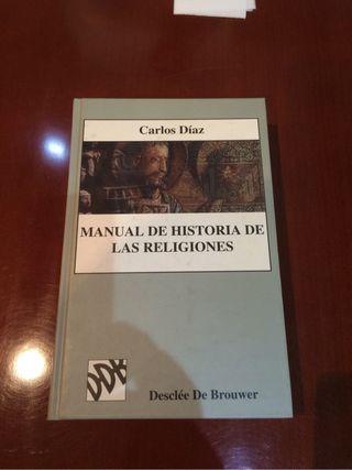 Libro: Manual de historia de las religiones