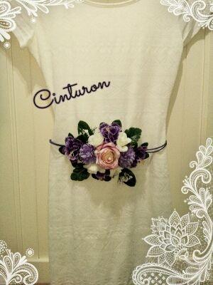 Cinturones de flores hechos a mano