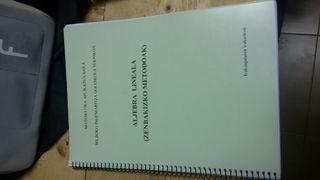 Libro de algebra UPV/EHU