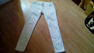 Pantalon blanco de mango talla 36