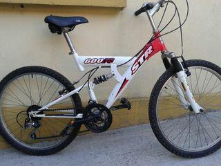 bici de montaña doble amortiguador.