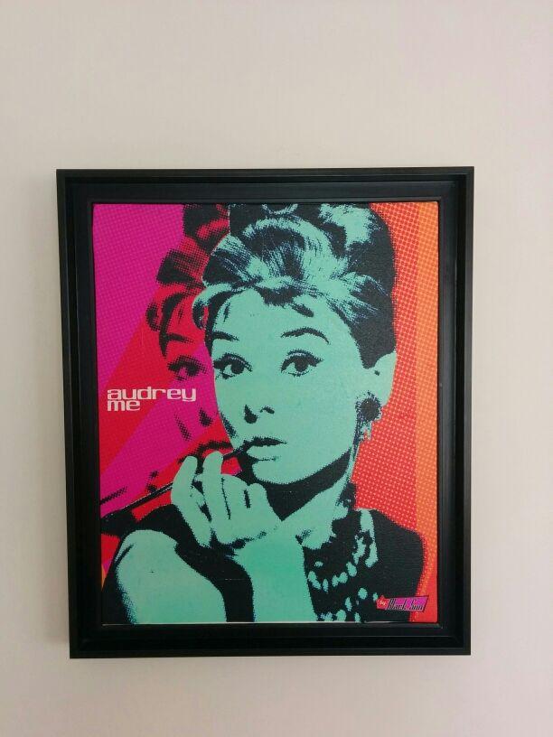 Cuadro Pop Art de Audrey Hepburn de segunda mano por 60 € en Madrid ...