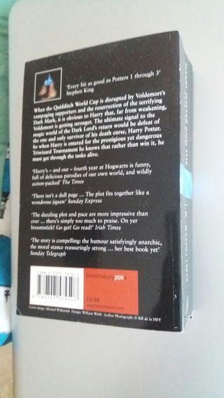 """Libro """"Harry Potter y el Cáliz de Fuego"""" en inglés"""
