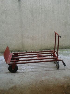 Carro transporte plegable industrial