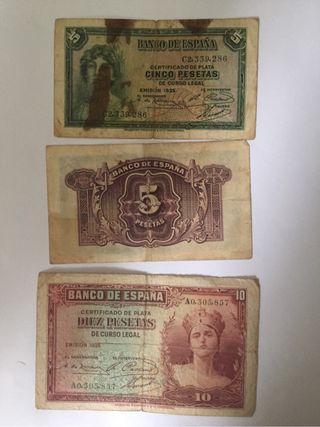 Billetes pesetas antiguos coleccion